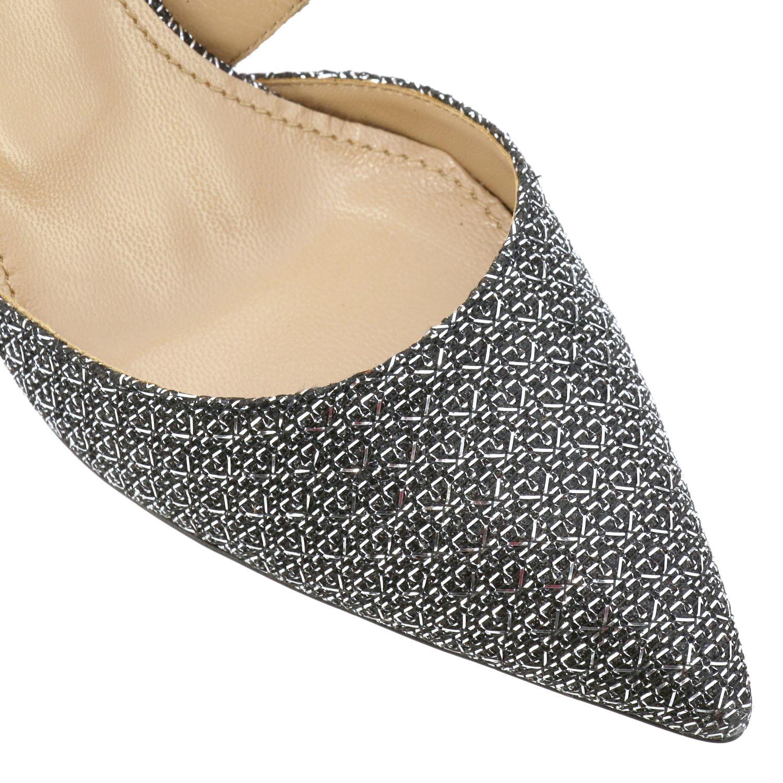Sandalo Aquazzura con fasce incrociate nero 4