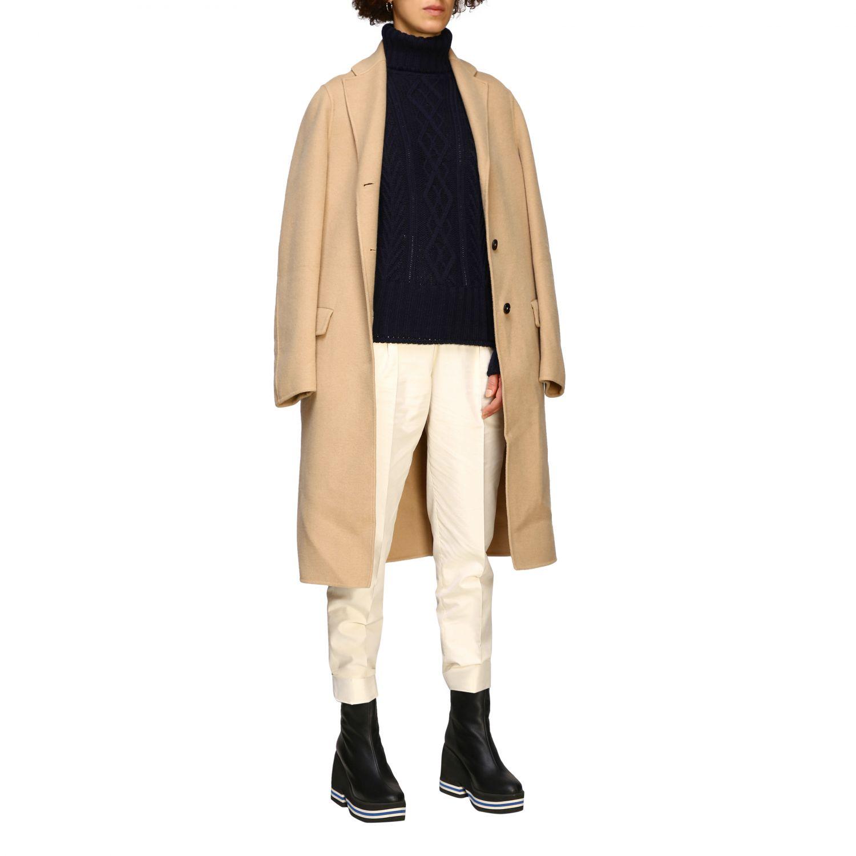 Coat women Jil Sander camel 2