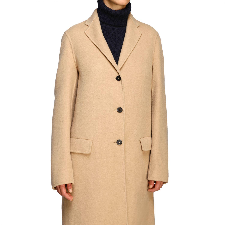 Coat women Jil Sander camel 5