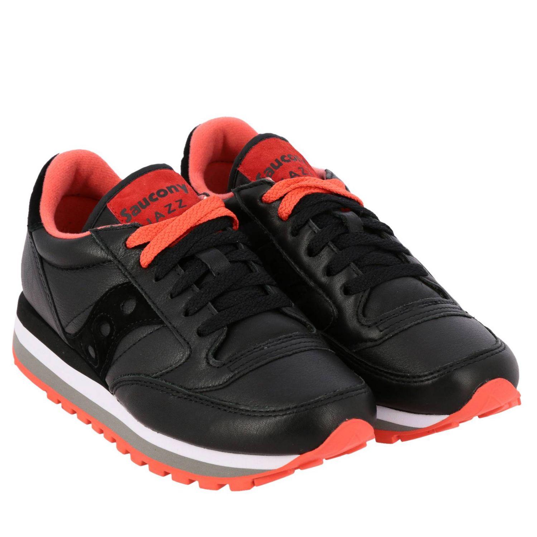 Sneakers Saucony in pelle e camoscio nero 2