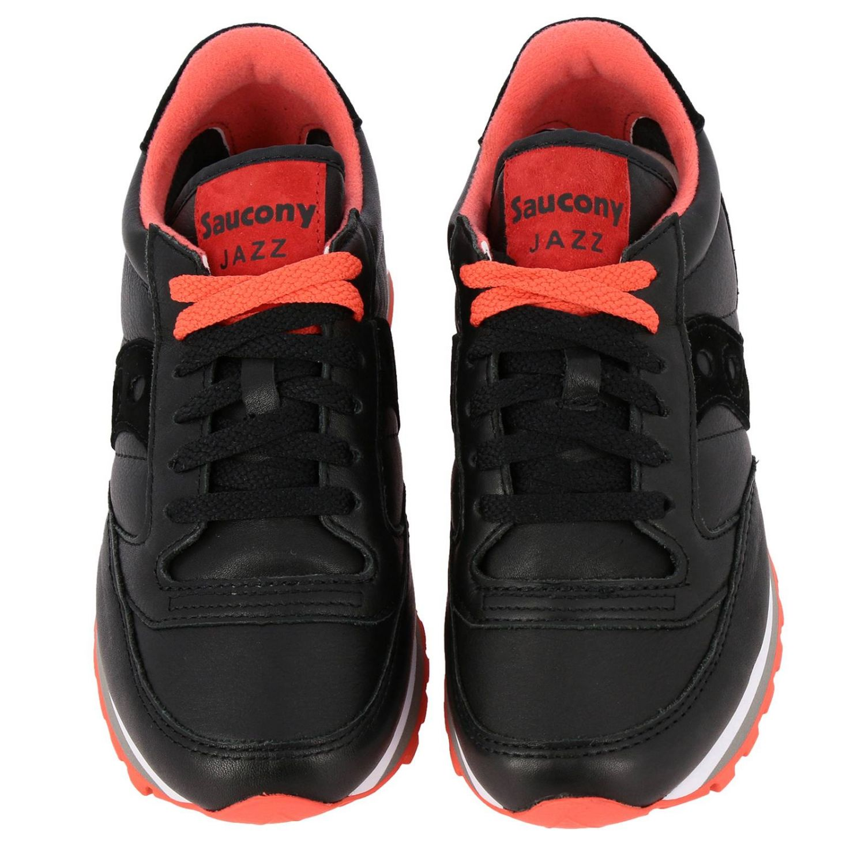 Sneakers Saucony in pelle e camoscio nero 3
