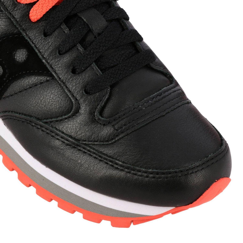 Sneakers Saucony in pelle e camoscio nero 4