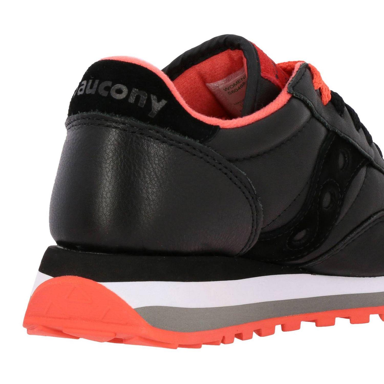 Sneakers Saucony in pelle e camoscio nero 5