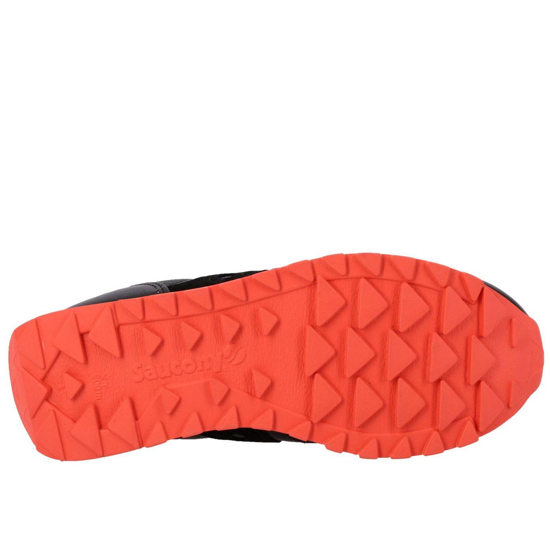 Sneakers Saucony in pelle e camoscio nero 6