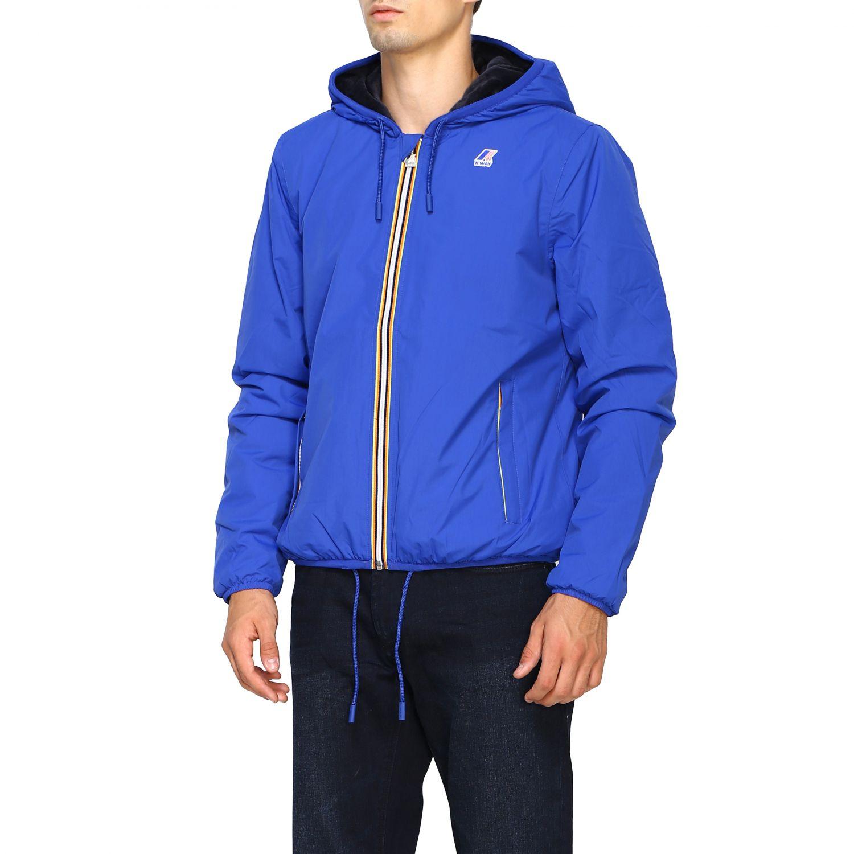 Jacket men K-way blue 4