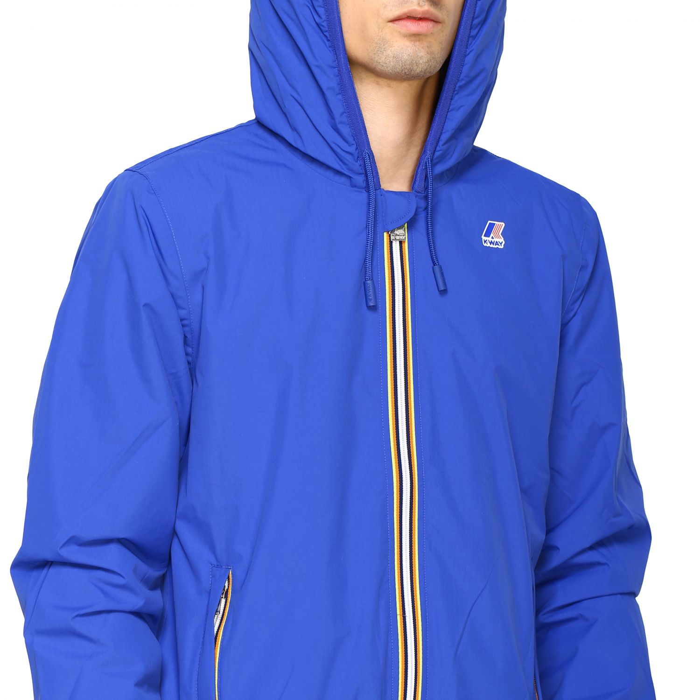 Jacket men K-way blue 5