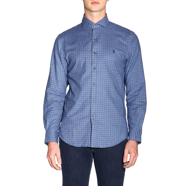 Hemd Polo Ralph Lauren: Polo Ralph Lauren Hemd mit französischem Kragen und Logo blau 1