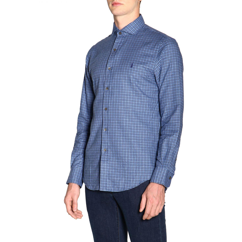 Hemd Polo Ralph Lauren: Polo Ralph Lauren Hemd mit französischem Kragen und Logo blau 4