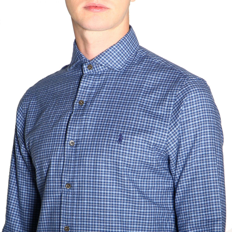 Hemd Polo Ralph Lauren: Polo Ralph Lauren Hemd mit französischem Kragen und Logo blau 5