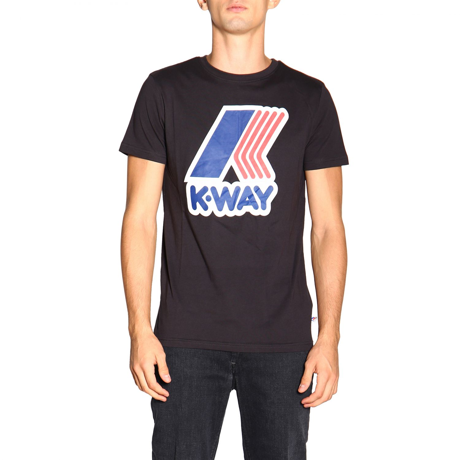 T-shirt men K-way black 1