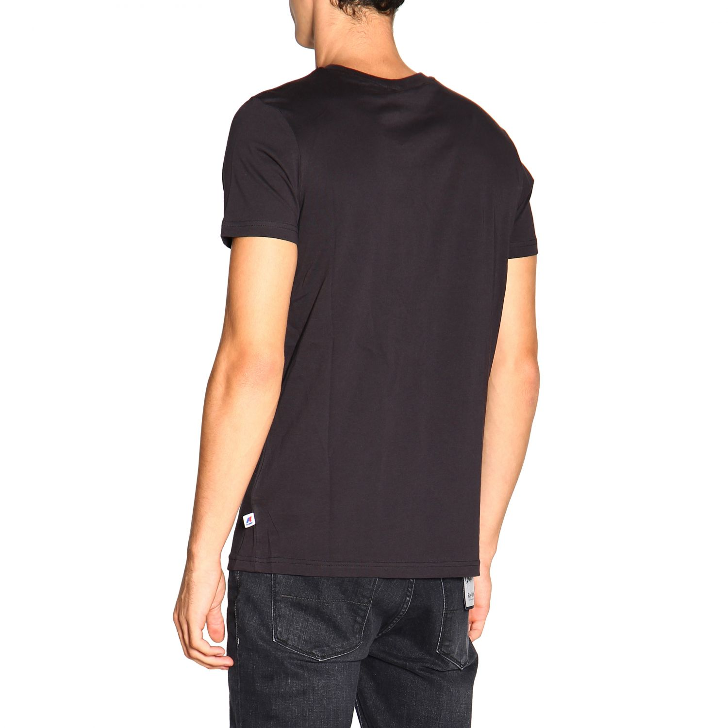 T-shirt men K-way black 3