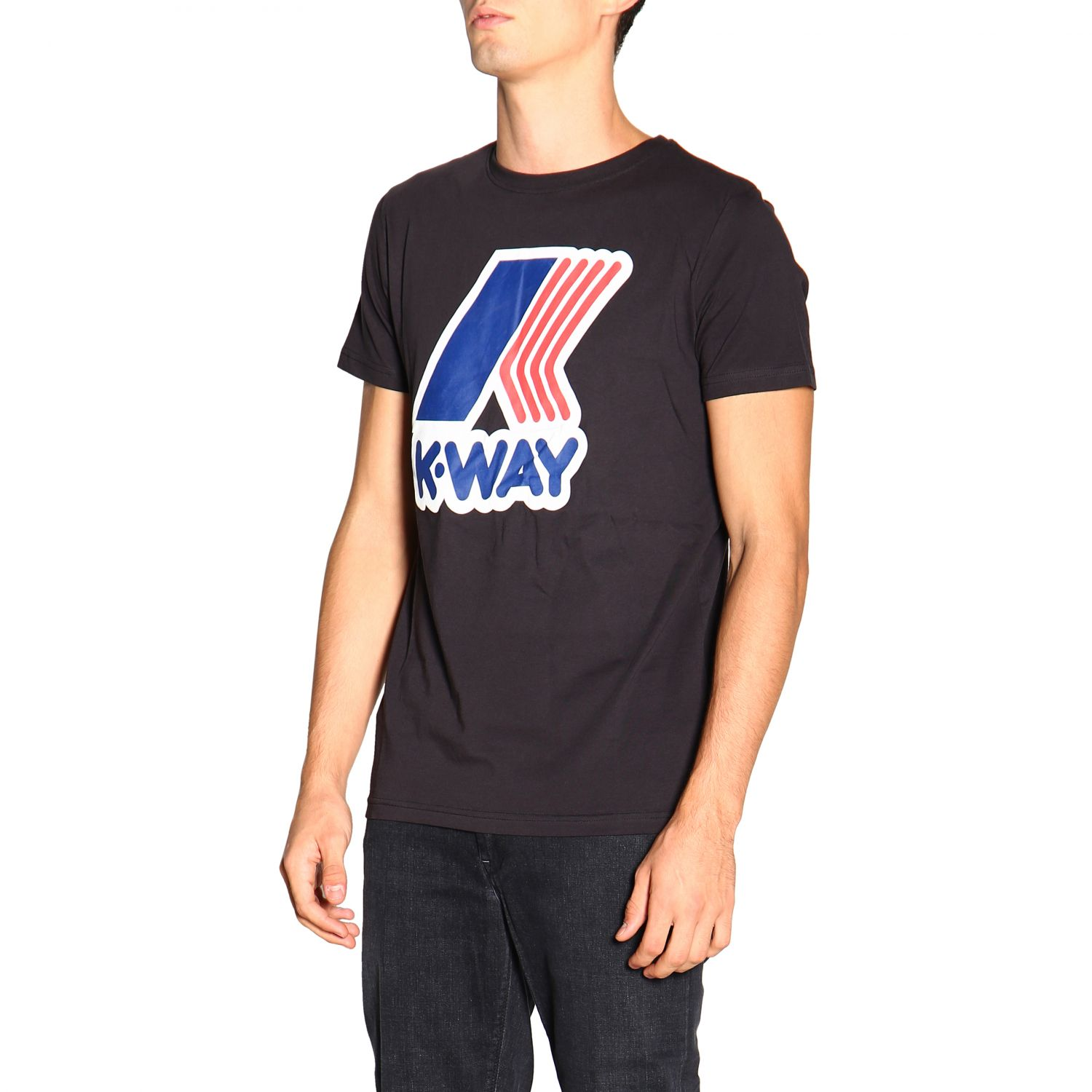 T-shirt men K-way black 4
