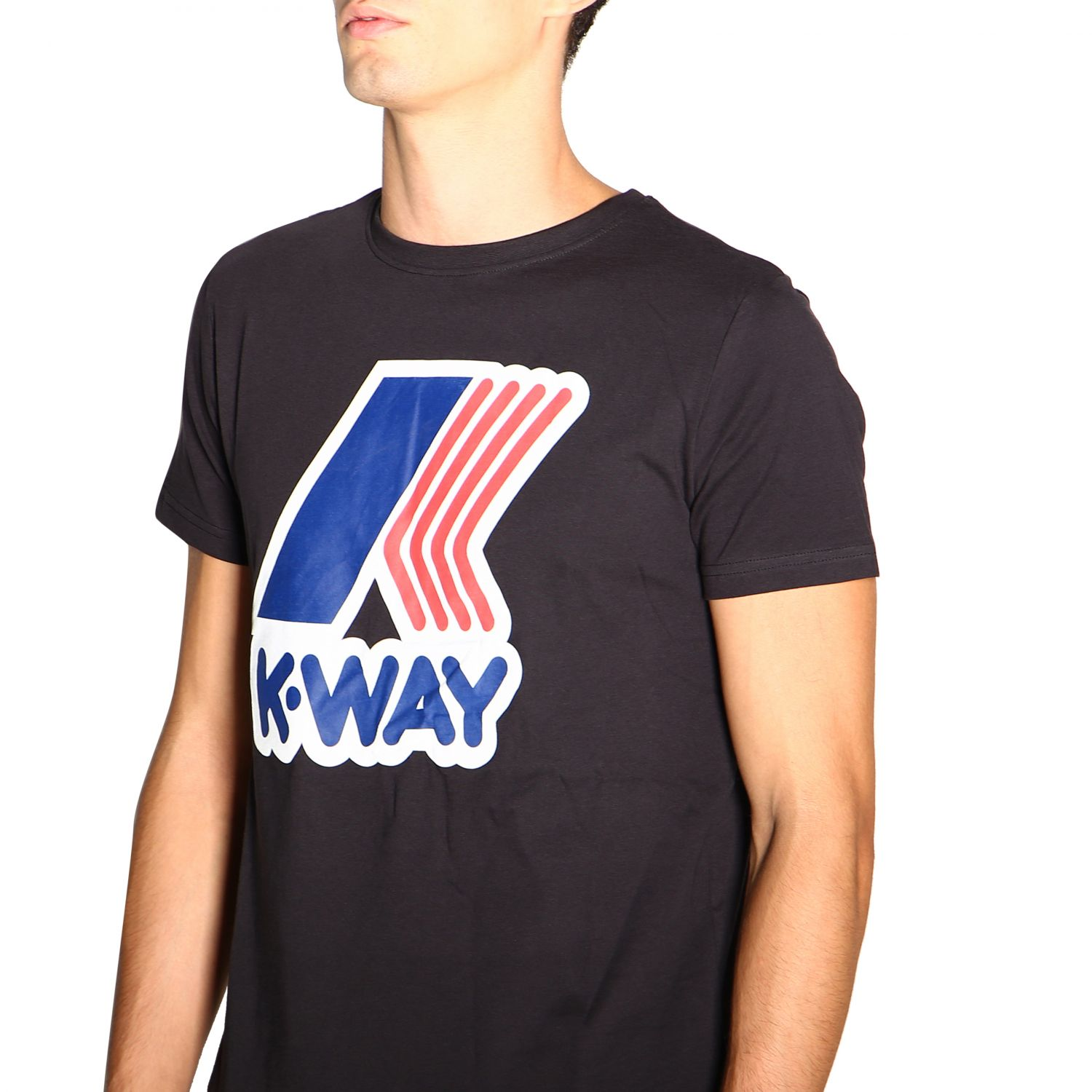 T-shirt men K-way black 5