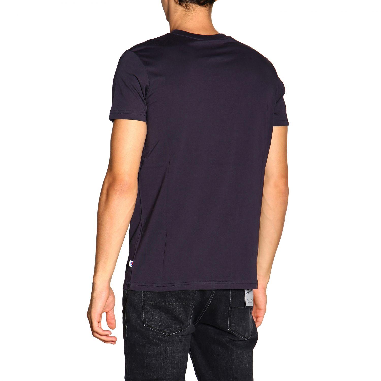 T-shirt K-Way: T-shirt a maniche corte con maxi logo K-way blue 3