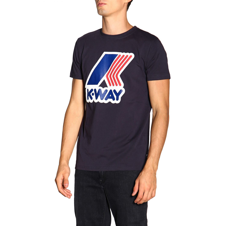 T-shirt K-Way: T-shirt a maniche corte con maxi logo K-way blue 4