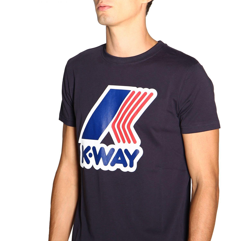 T-shirt K-Way: T-shirt a maniche corte con maxi logo K-way blue 5