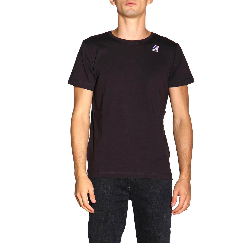 T-shirt men K-way black 1
