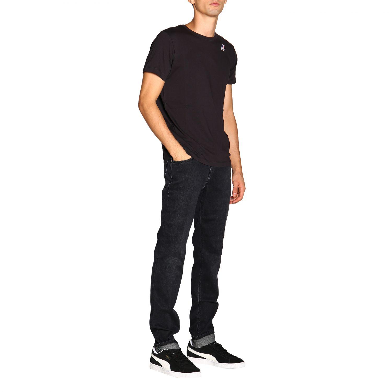 T-shirt men K-way black 2