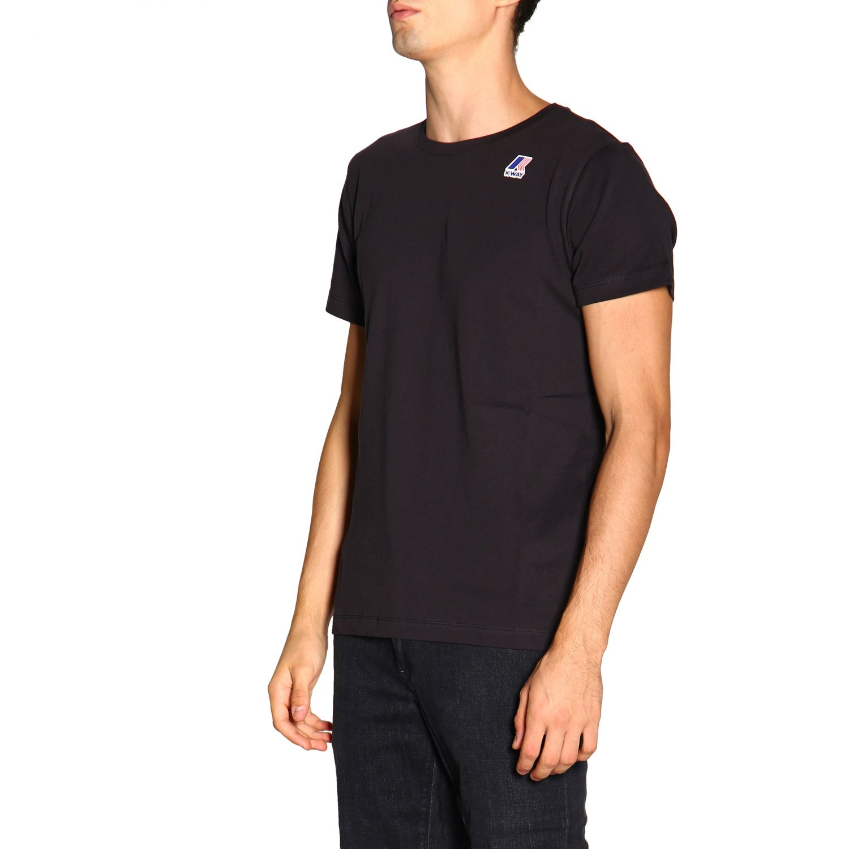 T-shirt men K-way black 4