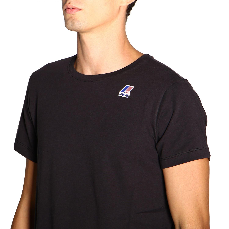 T-shirt men K-way black 5