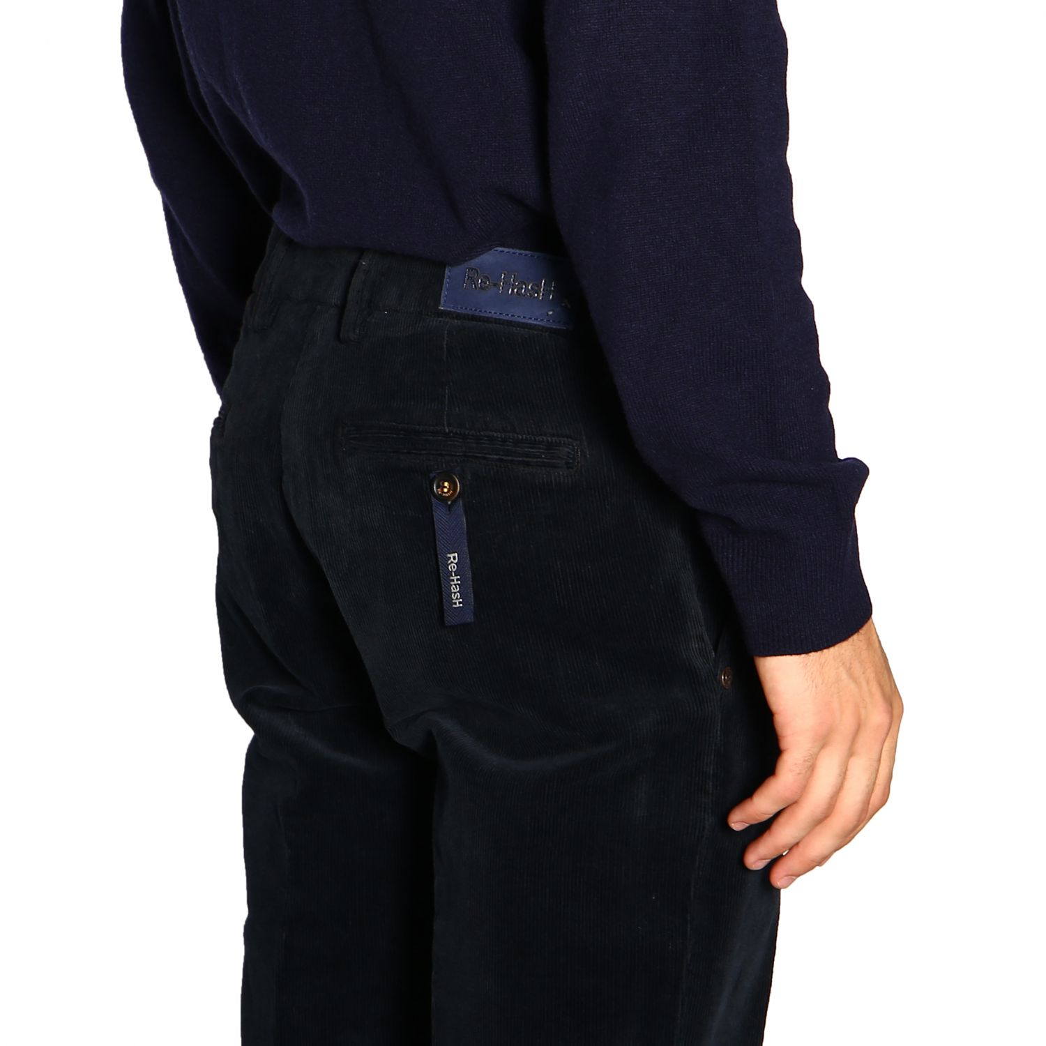 Pants men Re-hash blue 5