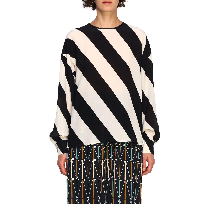 Camicia Alysi: Maglia Alysi a maniche lunghe con micro fantasia nero 1
