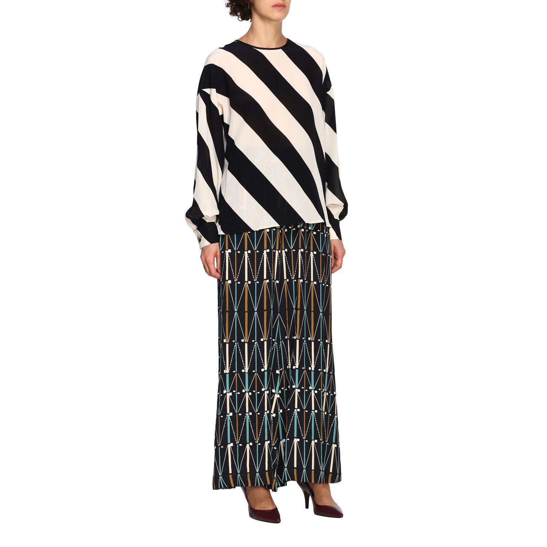 Camicia Alysi: Maglia Alysi a maniche lunghe con micro fantasia nero 2