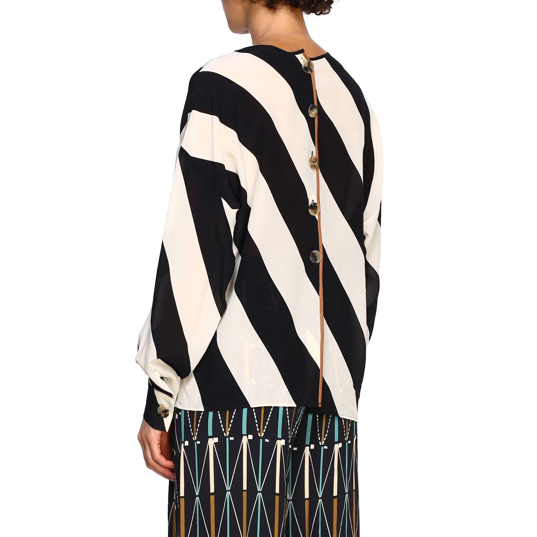 Camicia Alysi: Maglia Alysi a maniche lunghe con micro fantasia nero 3