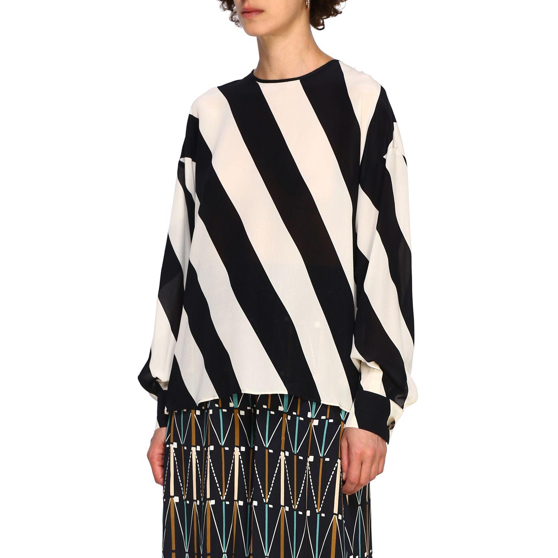 Camicia Alysi: Maglia Alysi a maniche lunghe con micro fantasia nero 4