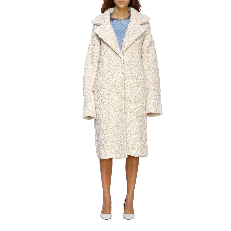 Fur coats D.exterior: Coat women D.exterior yellow cream 1