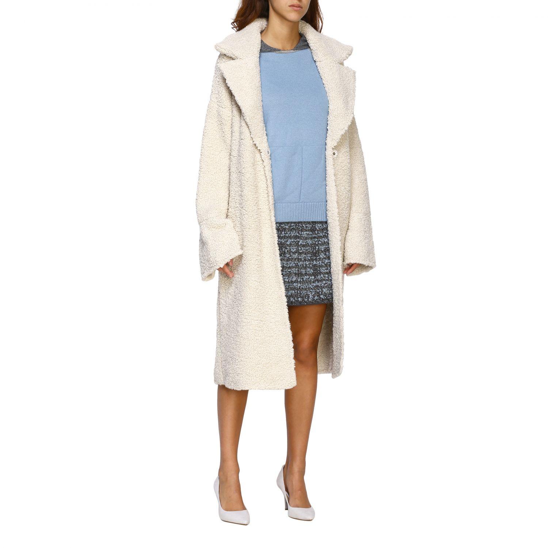 Fur coats D.exterior: Coat women D.exterior yellow cream 2