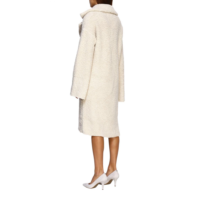 Fur coats D.exterior: Coat women D.exterior yellow cream 3