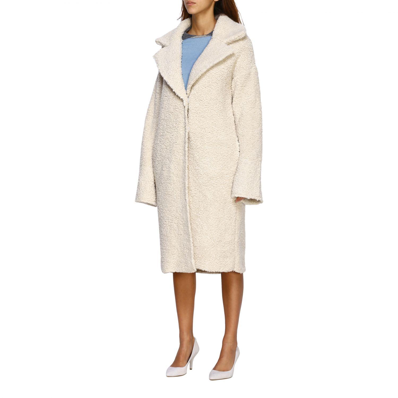 Fur coats D.exterior: Coat women D.exterior yellow cream 4