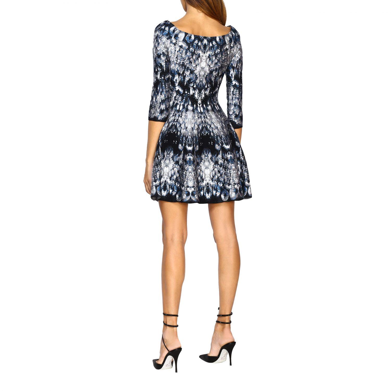 Dress Alexander Mcqueen: Dress women Alexander Mcqueen blue 2