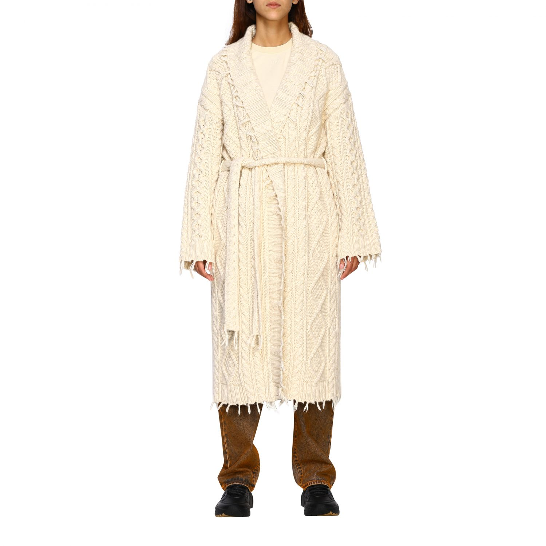 Cárdigan Alanui: Abrigo mujer Alanui blanco 1