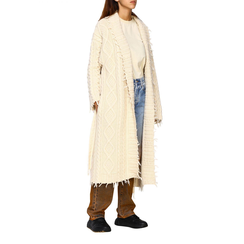 Cárdigan Alanui: Abrigo mujer Alanui blanco 2
