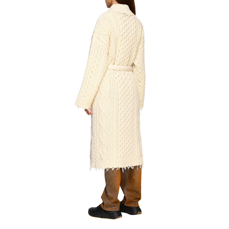 Cárdigan Alanui: Abrigo mujer Alanui blanco 3