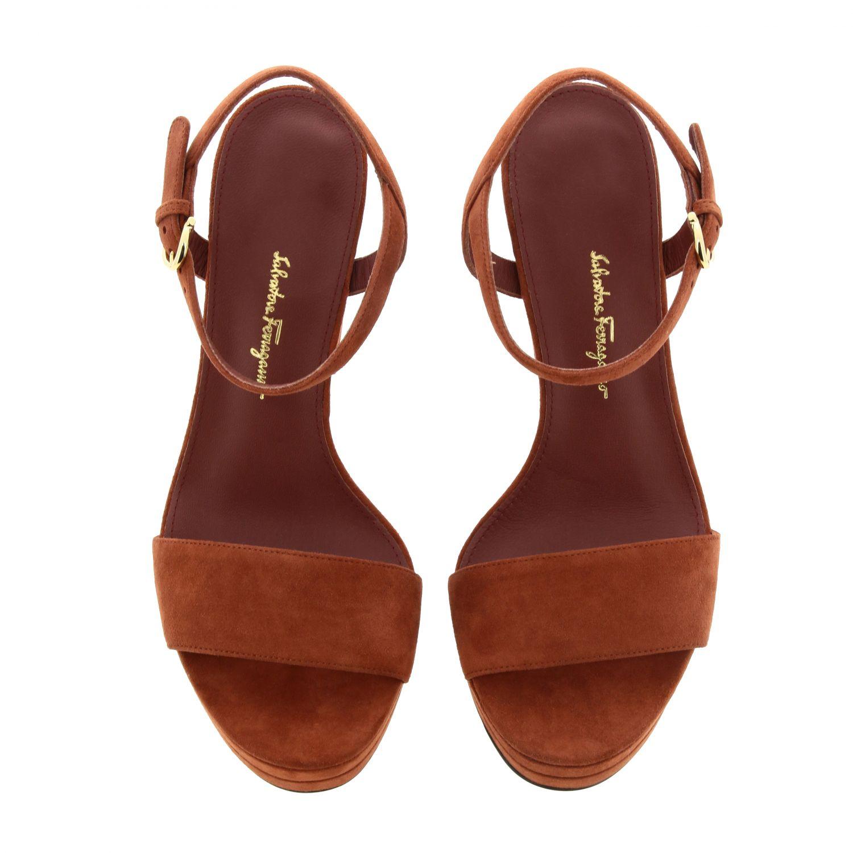 Sandalias de tacón Salvatore Ferragamo: Zapatos planos mujer Salvatore Ferragamo rojo 3