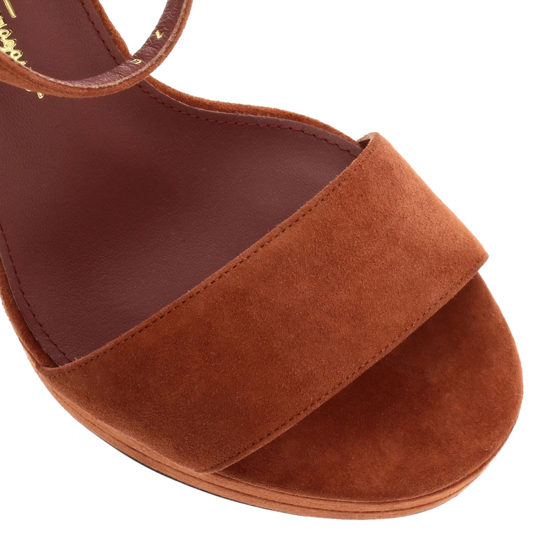 Sandalias de tacón Salvatore Ferragamo: Zapatos planos mujer Salvatore Ferragamo rojo 4