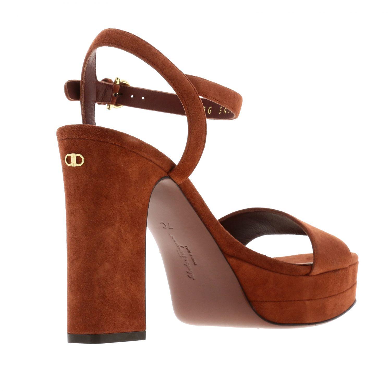 Sandalias de tacón Salvatore Ferragamo: Zapatos planos mujer Salvatore Ferragamo rojo 5