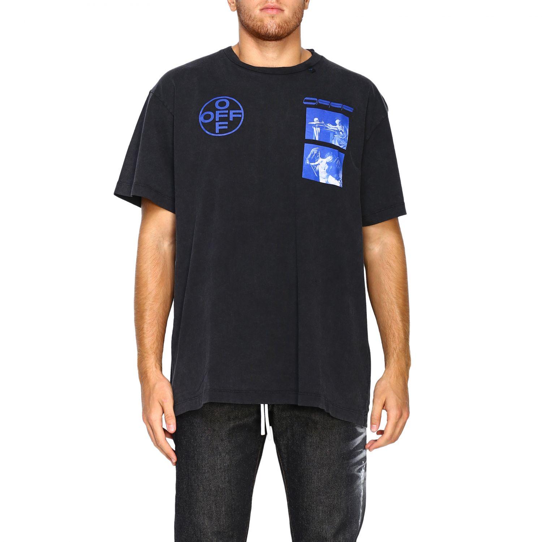 T-shirt Off White: T-shirt men Off White black 1