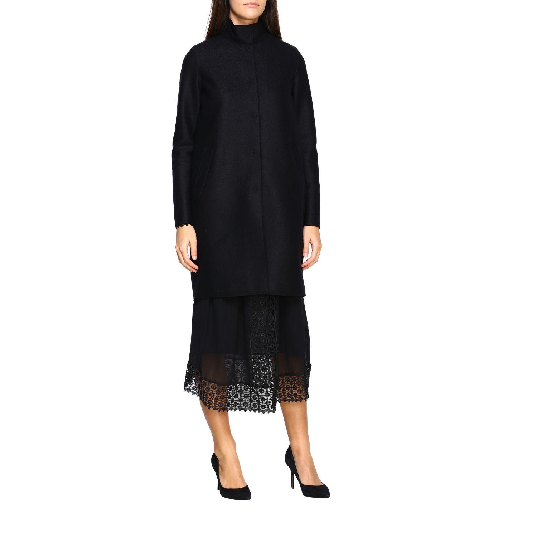 Coat women Harris Wharf London black 1