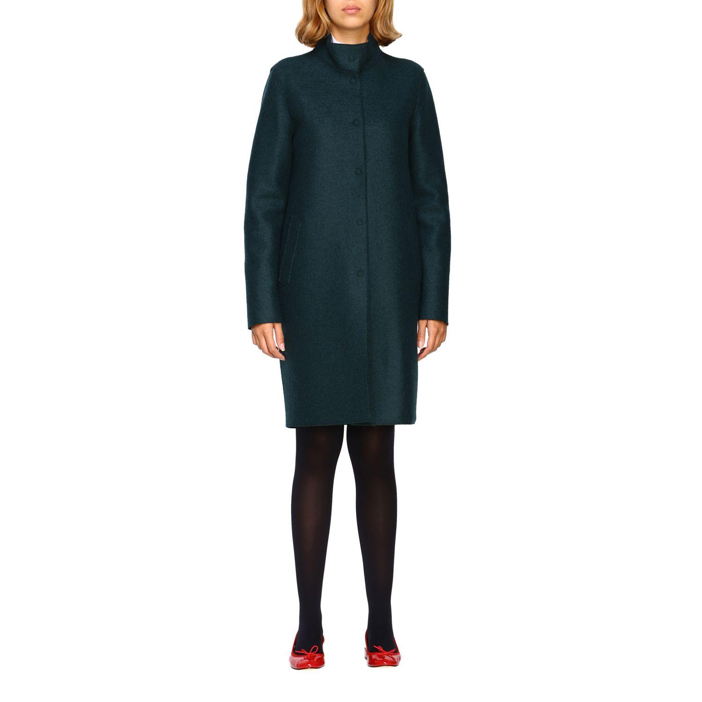 Coat women Harris Wharf London green 1