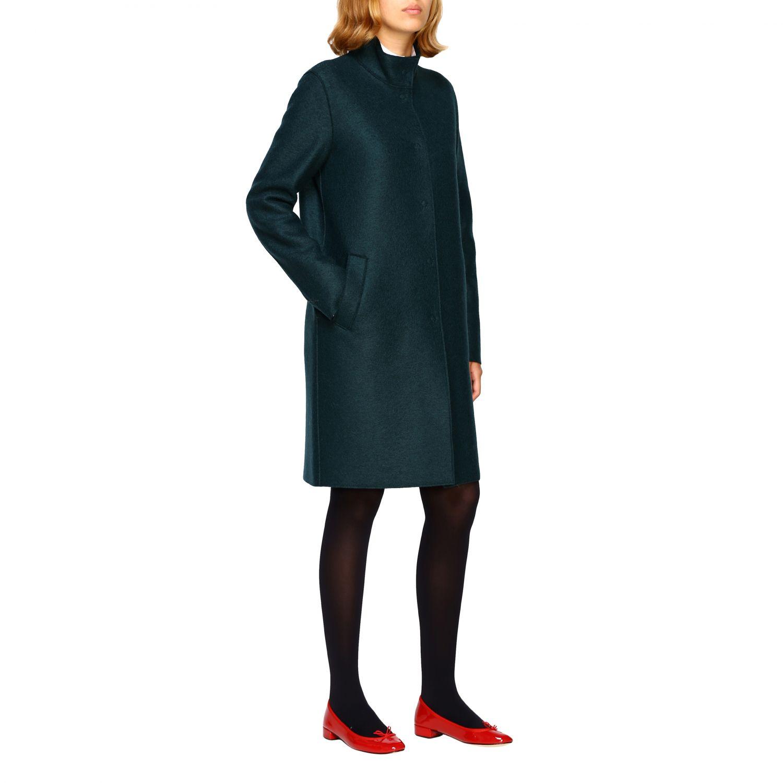 Coat women Harris Wharf London green 2