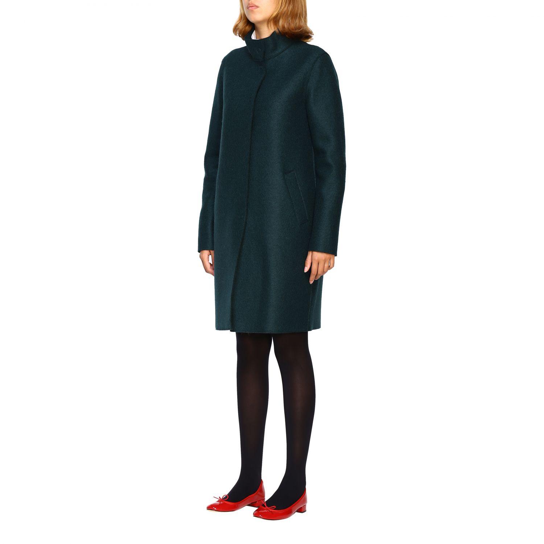 Coat women Harris Wharf London green 4