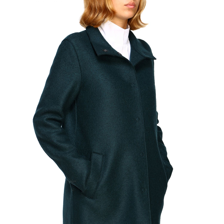 Coat women Harris Wharf London green 5