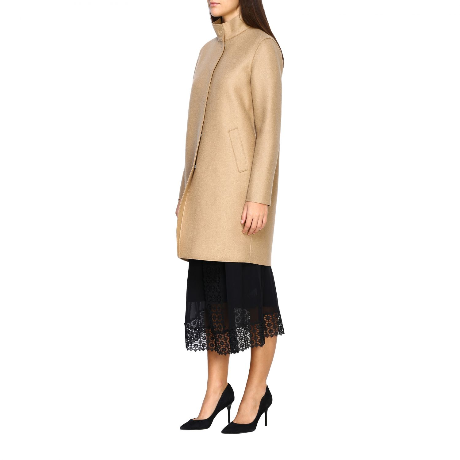Coat women Harris Wharf London natural 4