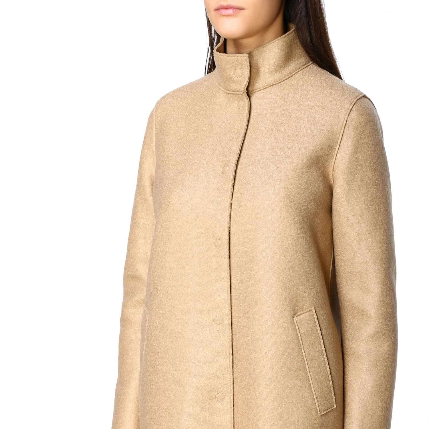 Coat women Harris Wharf London natural 5