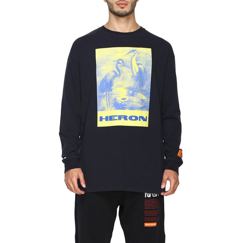 T-shirt Heron Preston: Maglia Heron Preston a girocollo con maxi stampa nero 1