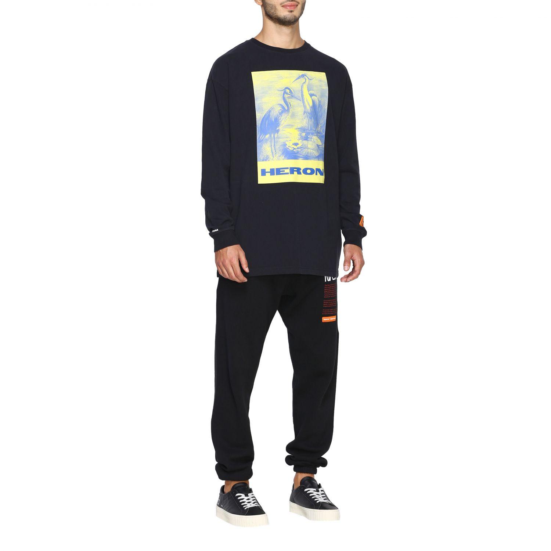 T-shirt Heron Preston: Maglia Heron Preston a girocollo con maxi stampa nero 2